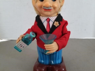 Vintage Battery Operated Mechanical Bartender Toy