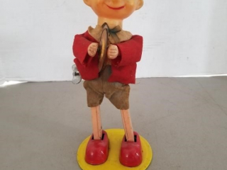 Vintage Pinocchio with Cymbals Wind Up Toy
