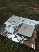 """Pieces of mirror - 1/4"""" thick- some are broken but there are large salvageable pieces"""