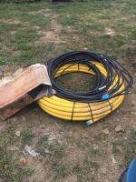Roll of flexible duct connector- plastic gas line-3 coils of #1 aluminum wire