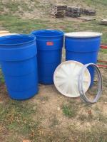 3 food grade barrels with air tight lids