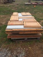 Pallet of lumber-plywood- siding- cabinet faces-etc.