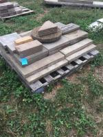 Pallet of patio pavers- stepping stones- misc.