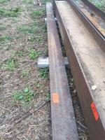 """Approximately 18' x 7.5"""" x 1/4"""" thick piece of steel plate"""
