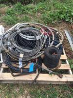 Pallet of various types of wire and cable