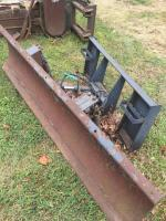 Plow attachment for Bobcat