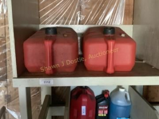 Two gas cans for boats location building one