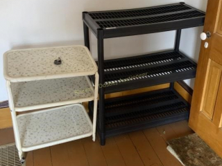 Lot of two shelving units location building one