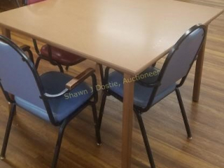 48 inch composite table with three metal and