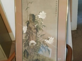 large framed oriental print