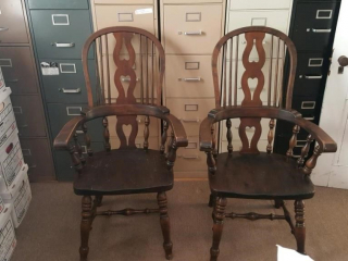wood captains chairs, heavy duty