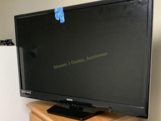 Sanyo 32 inch LED TV with remote control location