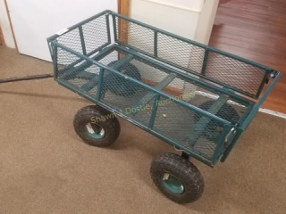 Heavy duty wagon with pneumatic tires and metal
