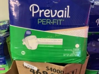 Nine packages of prevail adult briefs  nine