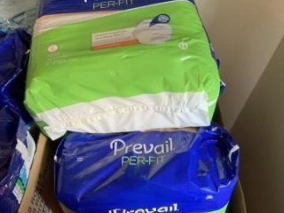 Lot of eight prevail adult extra large underwear