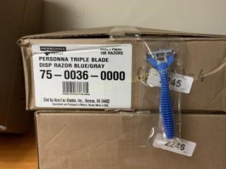 Case of 100 persona triple blade disposable razor