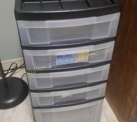 5 drawer plastic storage unit room number 4