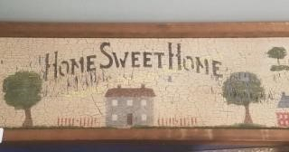 Home sweet home wooden wall hanging location room