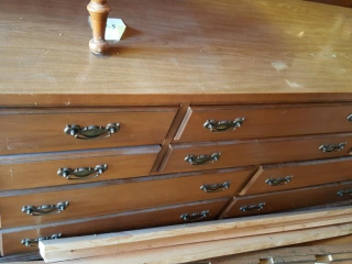 large dresser w laminated top