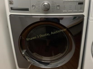 Kenmore elite front load gas dryer with stainless