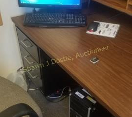 HP Tower with Dell monitor and keyboard and