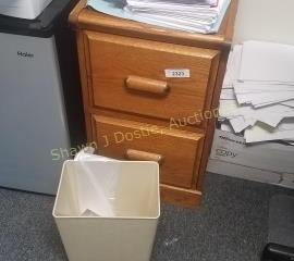 2 drawer wooden file cabinet either a dark Golden