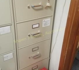 Hon 4 drawer metal filing cabinet office building