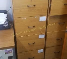 4 drawer light wood filing cabinet will not