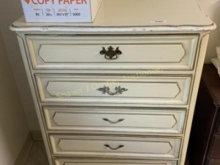 5 drawer Chest of drawers located in room five