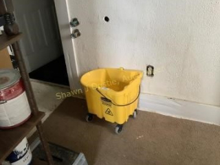 Mop bucket location to building one pantry