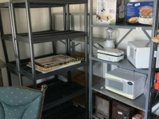 Lot of four shelves to metal into resin location