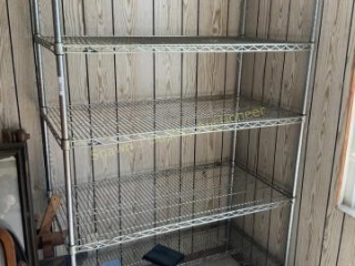 Wire shelving rack location building one room