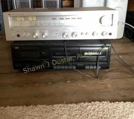 Olsen stereo receiver RA 700 and JVC double