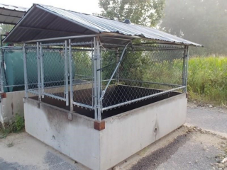 Concrete Fuel Containment with Roof