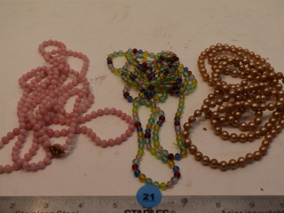 Three Various Beaded Necklaces