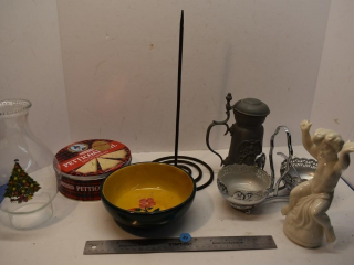 Misc. Items - Paper Towel Holder, Wooden Bowl,