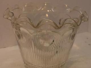 Ruffled Edge Heavy Glass Bowl