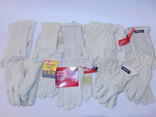 11 Pair Pigskin Goat  Leather Gloves Large