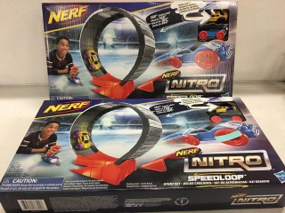 TOTAL OF 2 PCS NERF NITRO SPEED LOOP  KIDS TOYS