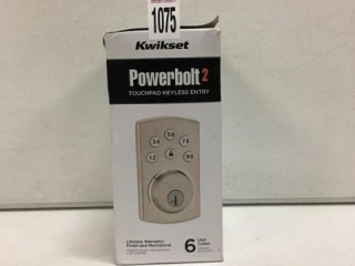 KWIKSET POWERBOLT 2 TOUCHPAD KEYLESS ENTRY