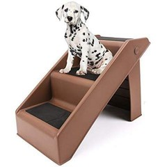 DELUXE 3 STEPS FOLDABLE STAIRS FOR DOGS 35LBS