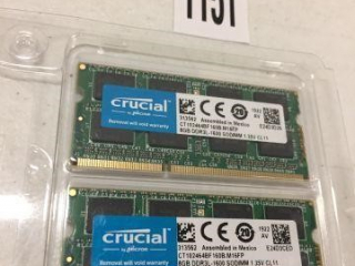 CRUCIAL MEMORY KIT 16GB  DDR 3(IN SHOWCASE)