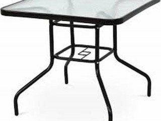 """32"""" PATIO SQUARE STEEL FRAME DINING TABLE"""