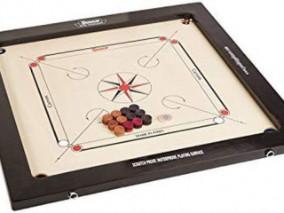 SURCO VINTAGE CARROM BOARD WITH COINS AND
