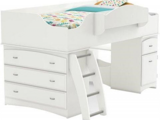 SOUTH SHORE IMAGINE COLLECTION TWIN LOFT BED