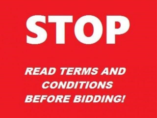 DO NOT BID, INFORMATION ONLY, PLEASE READ