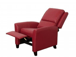 CORLIVING KATE BONDED LEATHER RECLINER