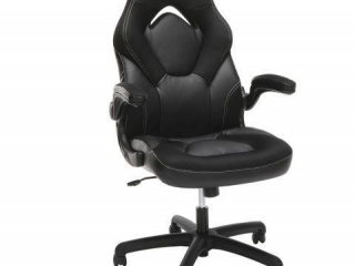 OFM RACING STYLE LEATHER GAMING CHAIR-MISSING BASE