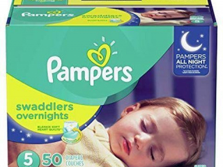 PAMPERS DIAPER SIZE 27lbs SWADDLERS OVERNIGHTS