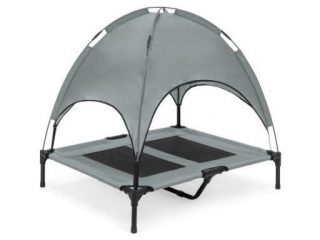 FLOPPY DAWG ELEVATED PET BED WITH CANOPY